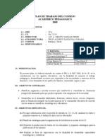 Plan de Consejo Académico Pedagogico 2008