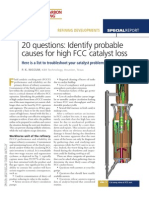 20 Questions Identify Probable Causes for High FCC Catalyst Loss