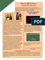 November/December 2013 Newsletter