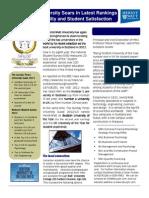 HWU Soars in Ranking Press Release