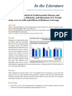 Differences in Control of Cardiovascular Disease and Diabetes by Race, Ethnicity, and Education