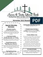 Aurora-Trinity Newsletter Nov13