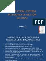 INSTRUCCIÓN GESTIÓN DE LA CALIDAD 2013