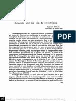 ASTRADA, C. - Relación del ser con la ec-sistencia