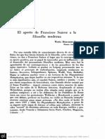 BERGADÁ, M.M. - El aporte de Francisco Suáres a la filosofía moderna