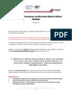 Instalarea Certificatului Digital Emis in Ierarhie Publica