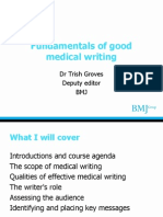 Fundamentals of Good Medical Writing