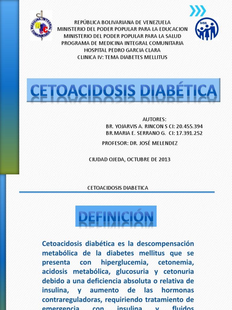 cetoacidosis diabetes ppt libre