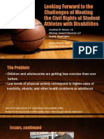 Meeting the Civil Rights of Student Athletes With Disabilities