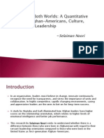 Study on Afghan-Americans, Culture, and Servant LeadershipServant Leadership