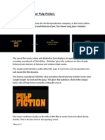 Opening Credits Analysis of Pulpfiction