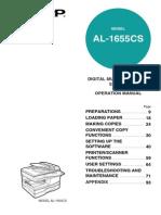 Sharp 1655CS Manual