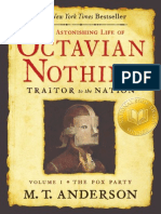 The Astonishing Life of Octavian Nothing, Traitor to the Nation, Volume One