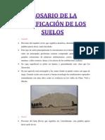 GLOSARIO de la clasificación de los suelos