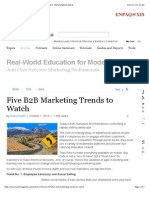 Marketing Strategy - Five B2B Marketing Trends to Watch