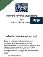 Malware Reverse Engineering (Class)