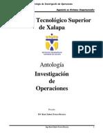 Antología de Investigación de Operaciones Sistemas Computacionales