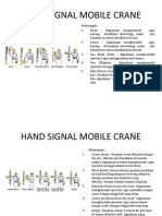 Hand Signal Mobile Crane