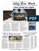 The Daily Tar Heel for November 18, 2013