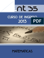 Sistema de Ecuaciones Represntacion Lineal Matematica Modulo 5 Ingreso2013