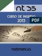 Propiedades de Los Numeros Cuadernillo Matematica Modulo 2 Ingreso2013