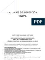 CRITERIOS DE INSPECCIÓN VISUAL