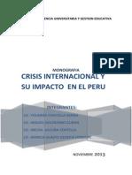 Crisis Internacional y El Impacto en El Peru1
