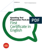 Speaking Test Preparation Pack for FCE Reduced