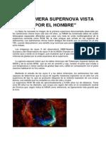La Primera Supernova Vista Por El Hombre