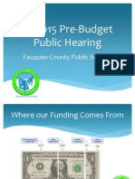 Fauquier County Public Hearing for 2014-2015 school budget