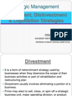 Divestment and Disinvestmen