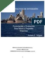 Proyectos de inversión, Andrés E. Miguel