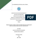 Implementacion de La Norma GLOBALGAP en Fabrica de Alimentos Balanceados Para Camarones
