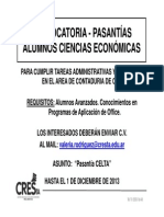 2013-11 Convocatoria Alumnos Csec - Celta