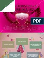 Characteristics of Pressure in a Liquid