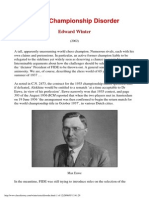 Edward Winter - World Championship Disorder