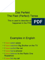Past (Perfect) Tense German Verbs