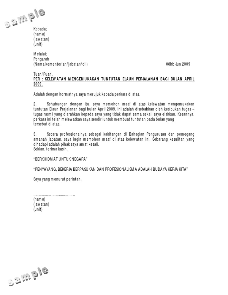 Surat Rayuan Tuntutan Perkeso Selangor A