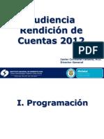 Rendicion de Cuentas 2012