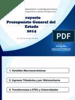 PGE 2014, Proyecto De