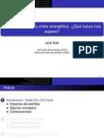 Crisis Economica y Crisis Energetica-JODI SOLE-Zaragoza-Nov2011