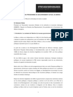 UNE LECTURE DU PROGRAMME DU GOUVERNEMENT ACTUEL AU MAROC.pdf