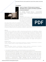 Revista Observaciones Filosóficas - Jean-Luc Nancy_ Téchne de los cuerpos y apostasía de los organos; El intruso, ajenidad y reconocimientos