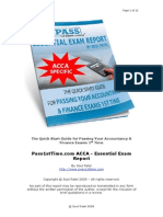 Pass1stTime.com ACCA Essential Exam Report