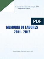 Memoria de Labores AEPDI Defensoría Q'eqchi' 2,011 -2,012