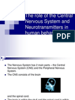 CNS and Neurotransmitters