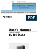 Keyence Bl 500 Manual