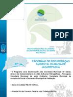 O Programa de Recuperação Ambiental da Bacia de Jacarepaguá