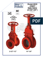 Uwp Model 2030 Os&y Gate Valve 2.5 in.-24 in. Sizes