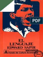 Edward Sapir. El Lenguaje